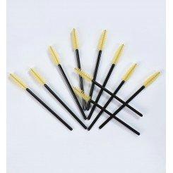 Szczoteczki do rzęs 10szt. Yellow-Black